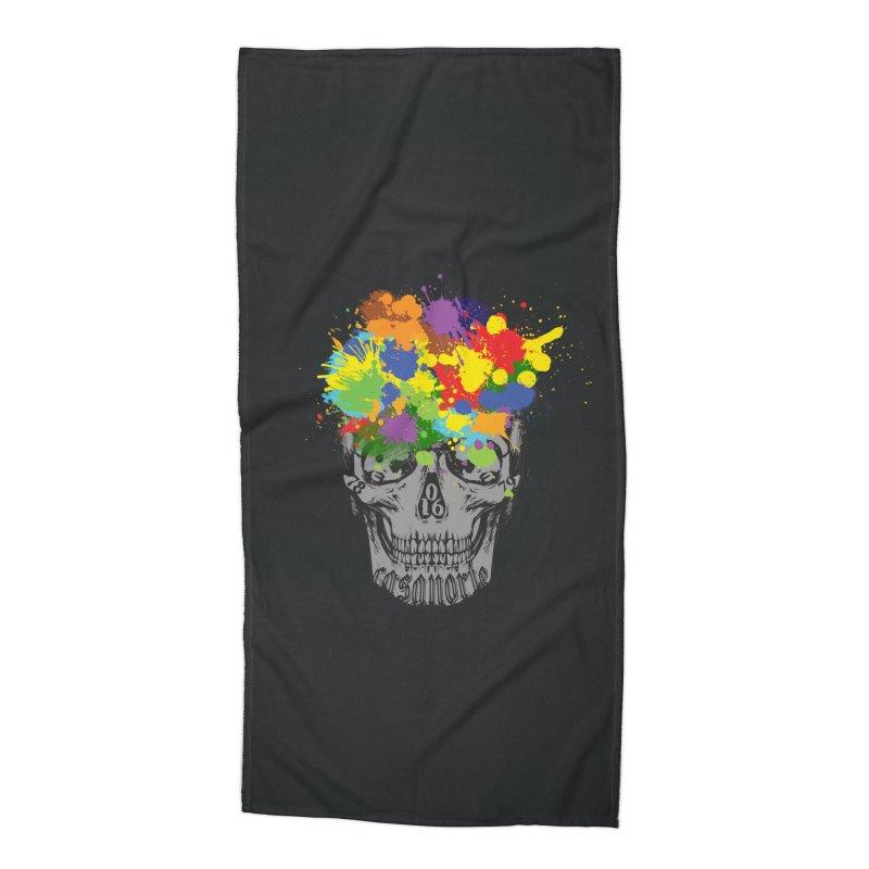 CasaNorte - Splat Accessories Beach Towel by CasaNorte's Artist Shop