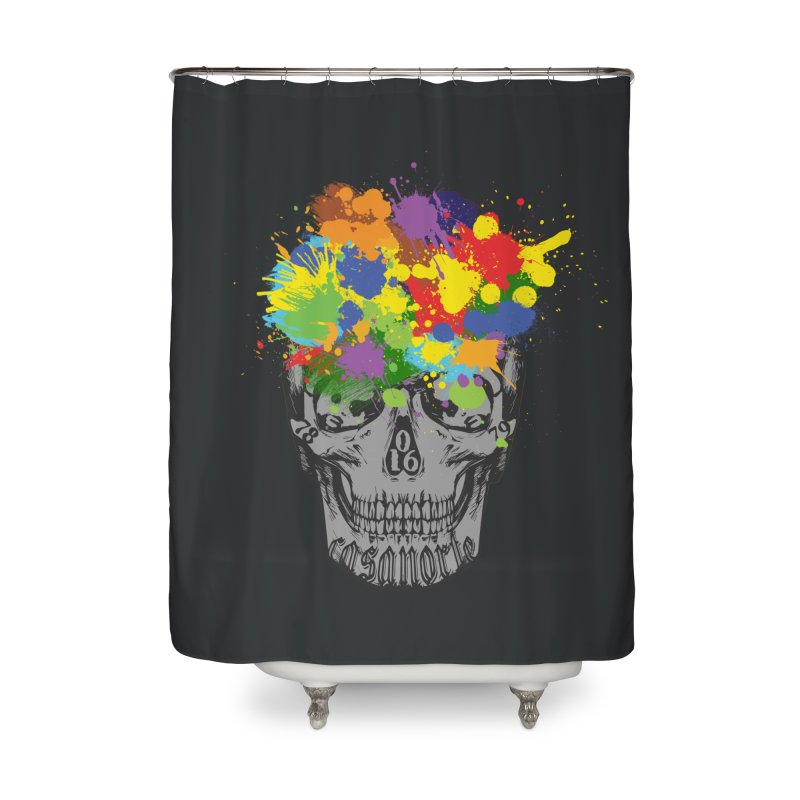 CasaNorte - Splat Home Shower Curtain by CasaNorte's Artist Shop