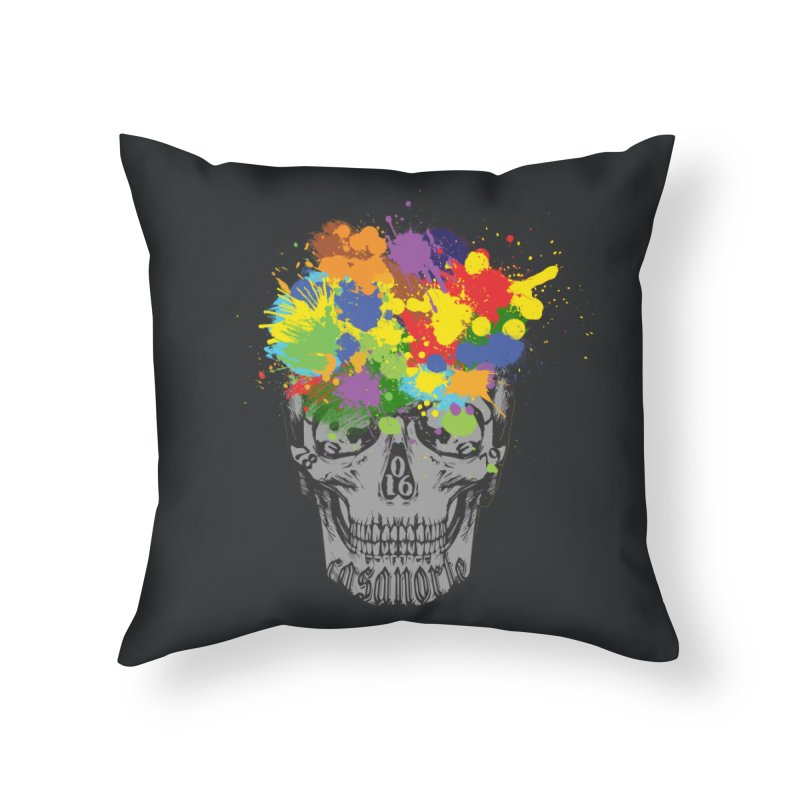 CasaNorte - Splat Home Throw Pillow by CasaNorte's Artist Shop