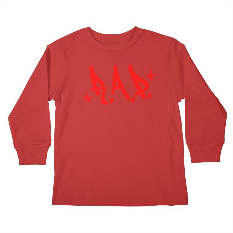 90s R.A.P. - RapRed Kids Longsleeve T-Shirt by CasaNorte's Artist Shop