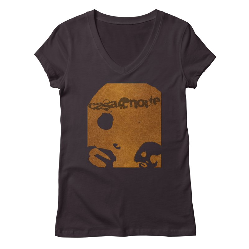 CasaNorte - Leather Women's Regular V-Neck by CasaNorte's Artist Shop