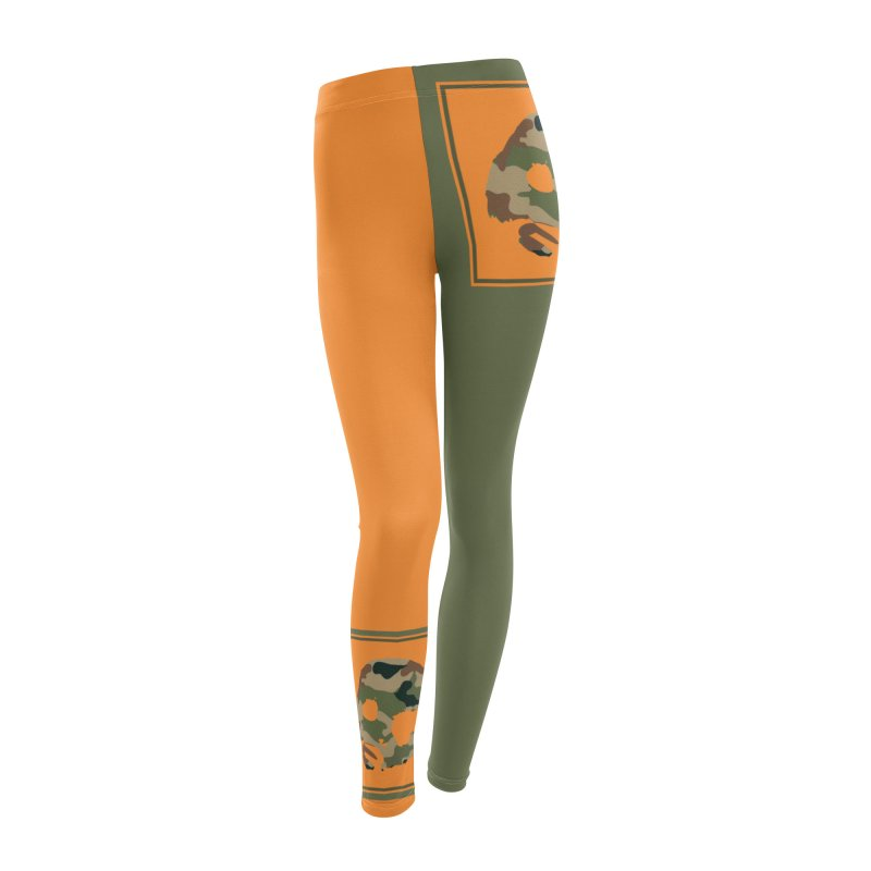 CasaNorte - Orange Women's Leggings Bottoms by CasaNorte's Artist Shop