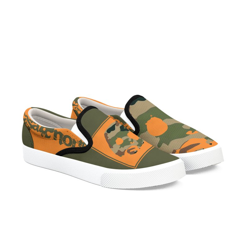 CasaNorte - Orange Men's Slip-On Shoes by CasaNorte's Artist Shop