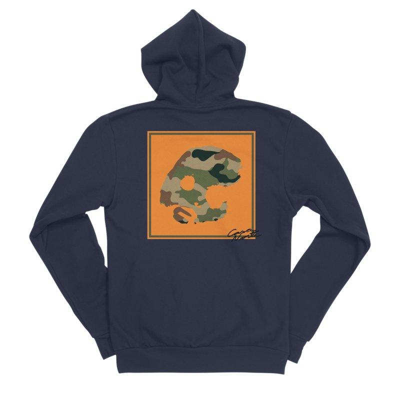 CasaNorte - Orange Women's Sponge Fleece Zip-Up Hoody by CasaNorte's Artist Shop