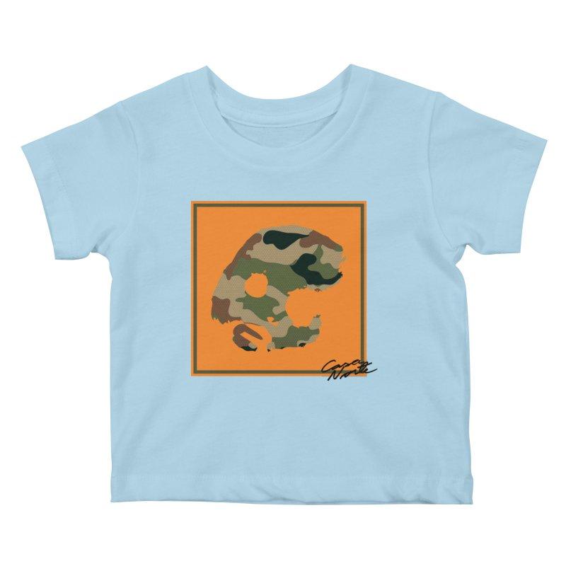 CasaNorte - Orange Kids Baby T-Shirt by CasaNorte's Artist Shop