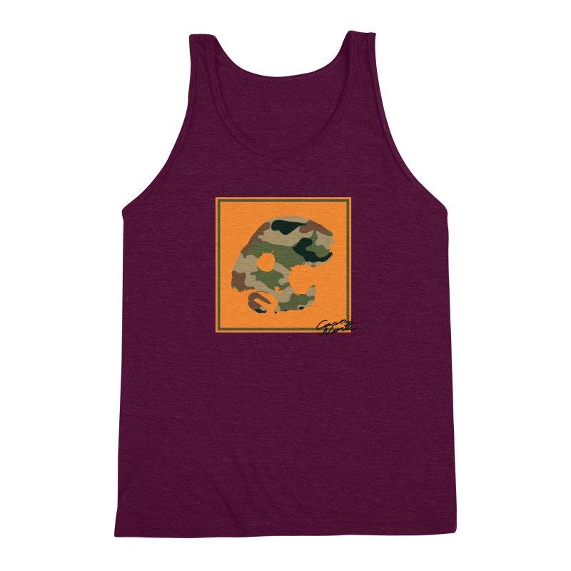 CasaNorte - Orange Men's Triblend Tank by CasaNorte's Artist Shop