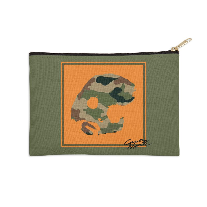 CasaNorte - Orange Accessories Zip Pouch by CasaNorte's Artist Shop