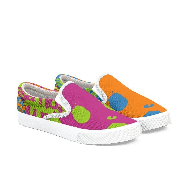 CasaNorte - Colors Women's Slip-On Shoes by Casa Norte's Artist Shop