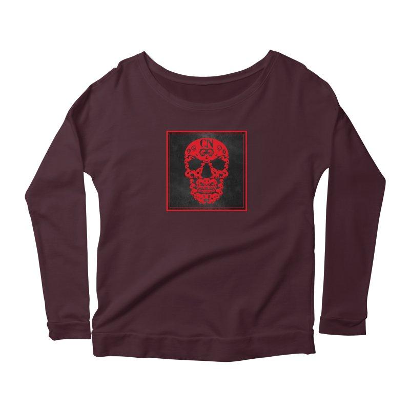 CasaNorte - CN SkullR Women's Scoop Neck Longsleeve T-Shirt by CasaNorte's Artist Shop