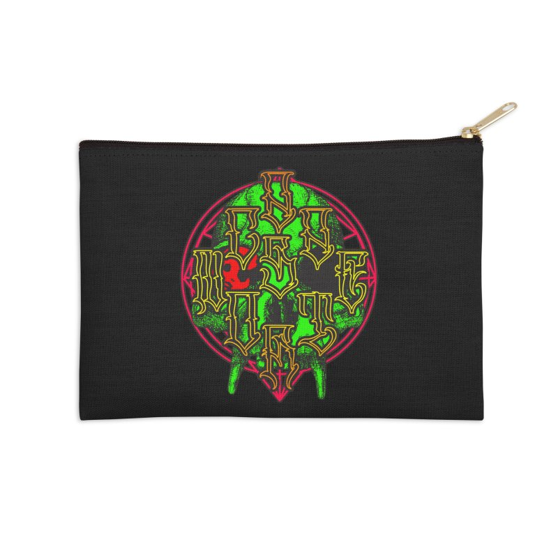 CasaNorte - WarApeGreen Accessories Zip Pouch by Casa Norte's Artist Shop