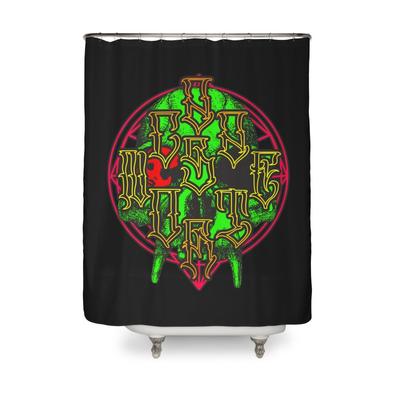 CasaNorte - WarApeGreen Home Shower Curtain by CasaNorte's Artist Shop