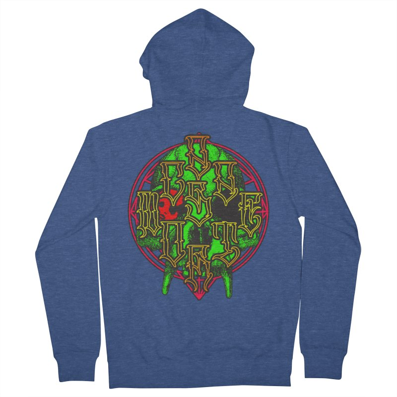 CasaNorte - WarApeGreen Men's French Terry Zip-Up Hoody by Casa Norte's Artist Shop