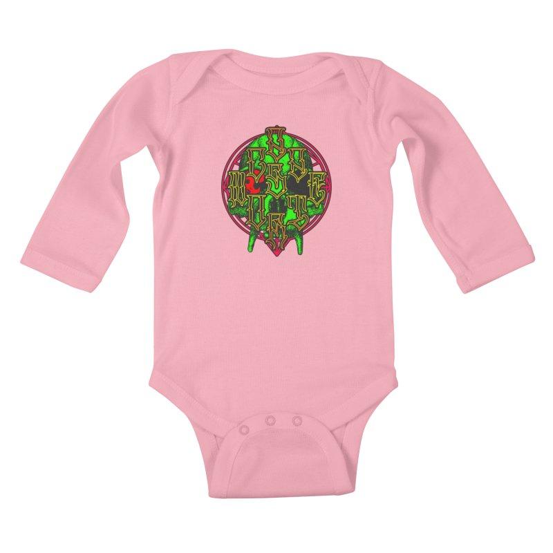 CasaNorte - WarApeGreen Kids Baby Longsleeve Bodysuit by Casa Norte's Artist Shop