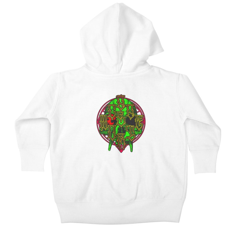 CasaNorte - WarApeGreen Kids Baby Zip-Up Hoody by Casa Norte's Artist Shop