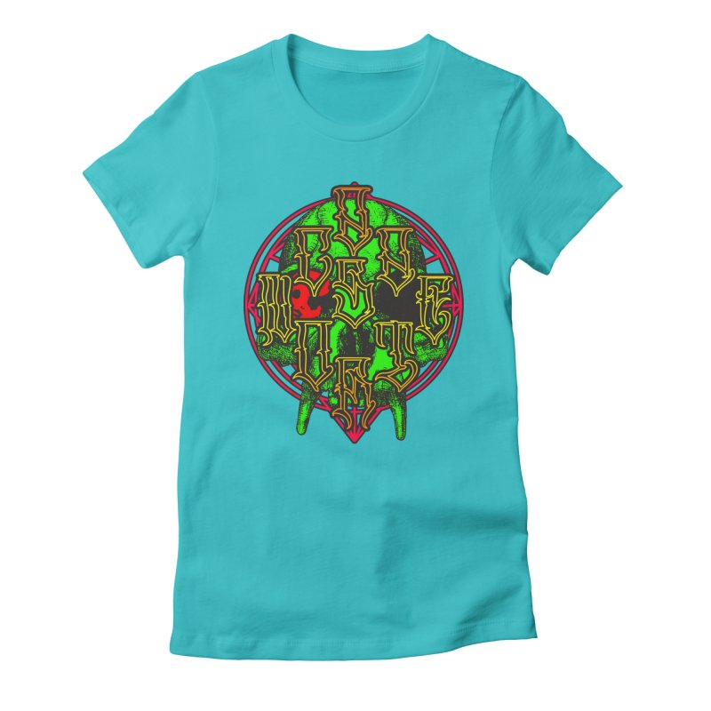 CasaNorte - WarApeGreen Women's Fitted T-Shirt by Casa Norte's Artist Shop