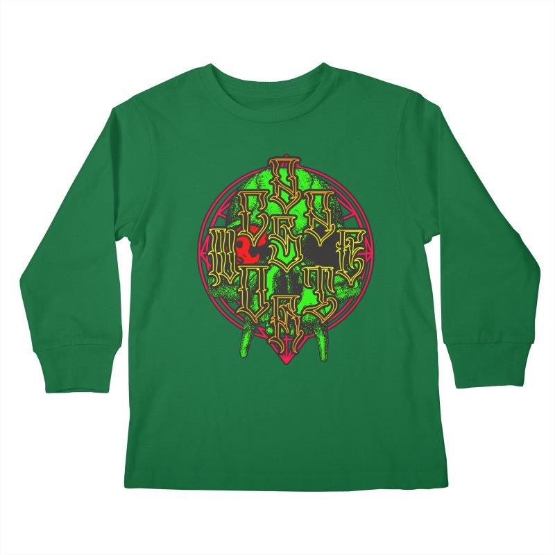 CasaNorte - WarApeGreen Kids Longsleeve T-Shirt by Casa Norte's Artist Shop