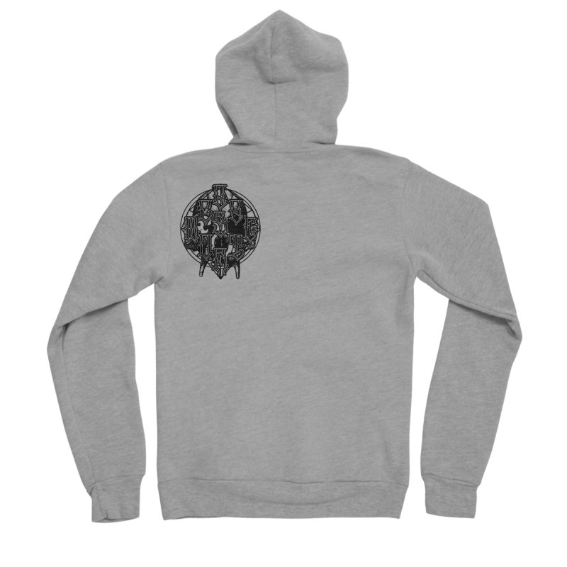 CasaNorte - WarApeB Men's Zip-Up Hoody by Casa Norte's Artist Shop