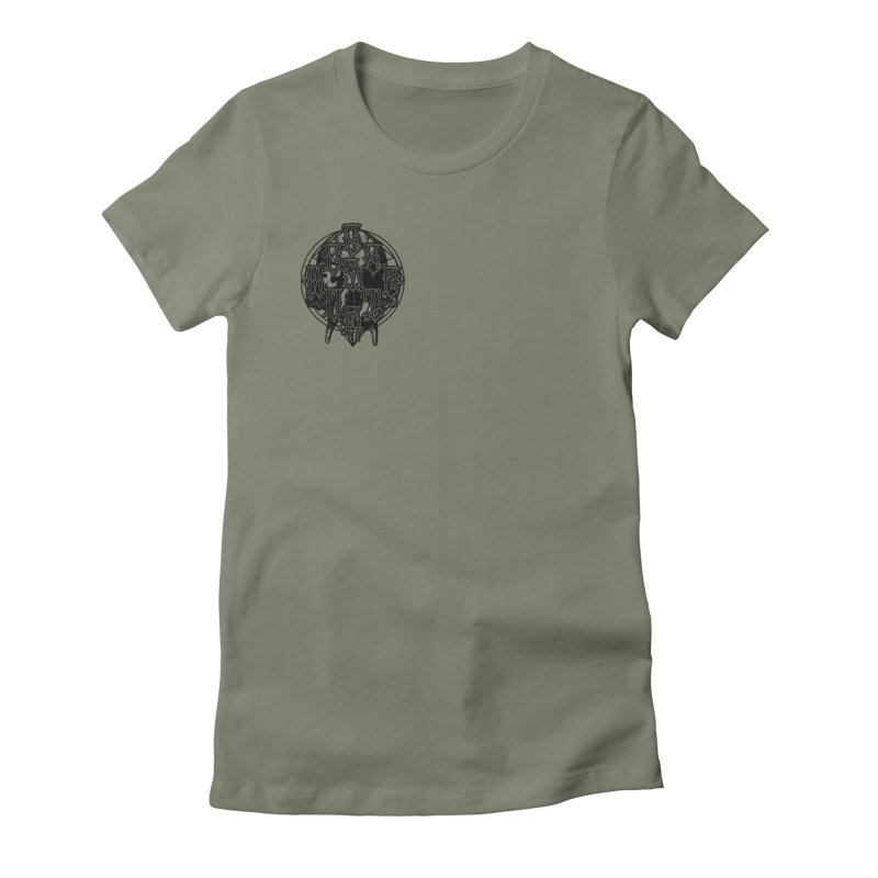 CasaNorte - WarApeB Women's Fitted T-Shirt by Casa Norte's Artist Shop