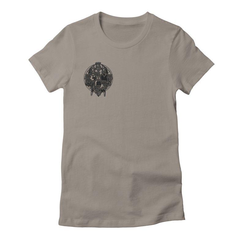 CasaNorte - WarApeB Women's Fitted T-Shirt by Casa Norte's Artist Shop