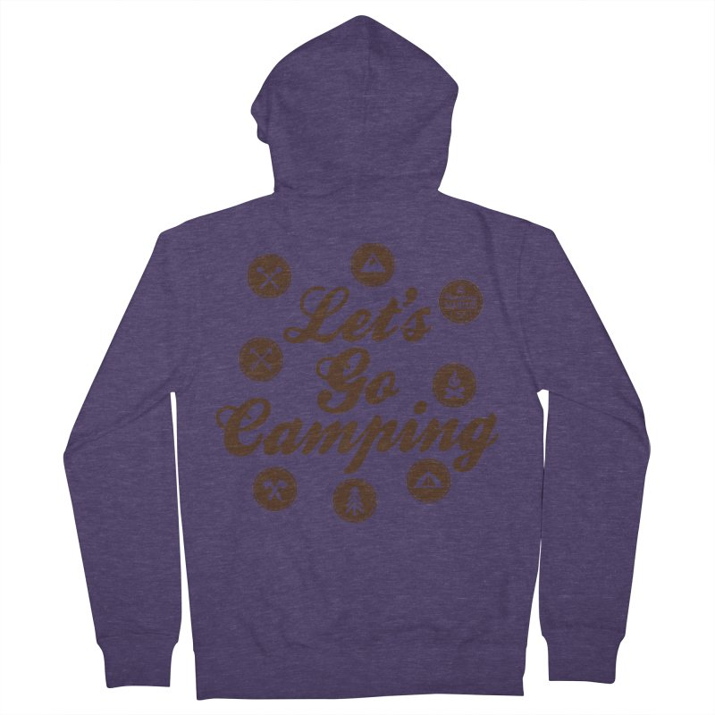 Camping Maniacs 4 Men's French Terry Zip-Up Hoody by Casa Norte's Artist Shop