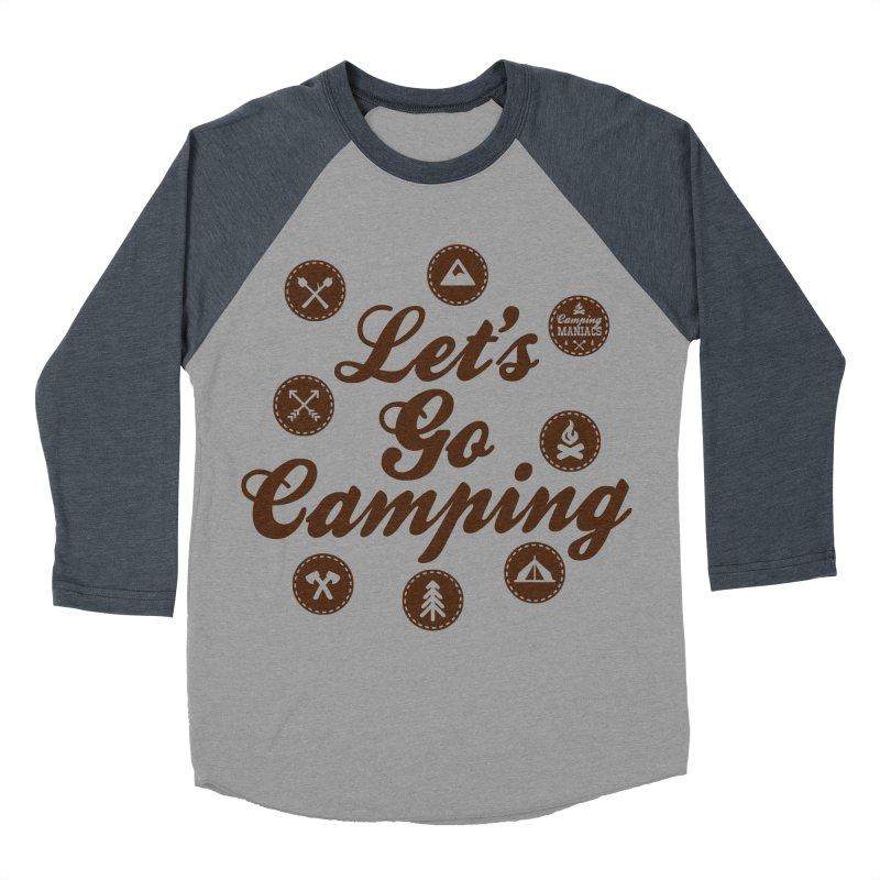 Camping Maniacs 4 Men's Baseball Triblend Longsleeve T-Shirt by Casa Norte's Artist Shop