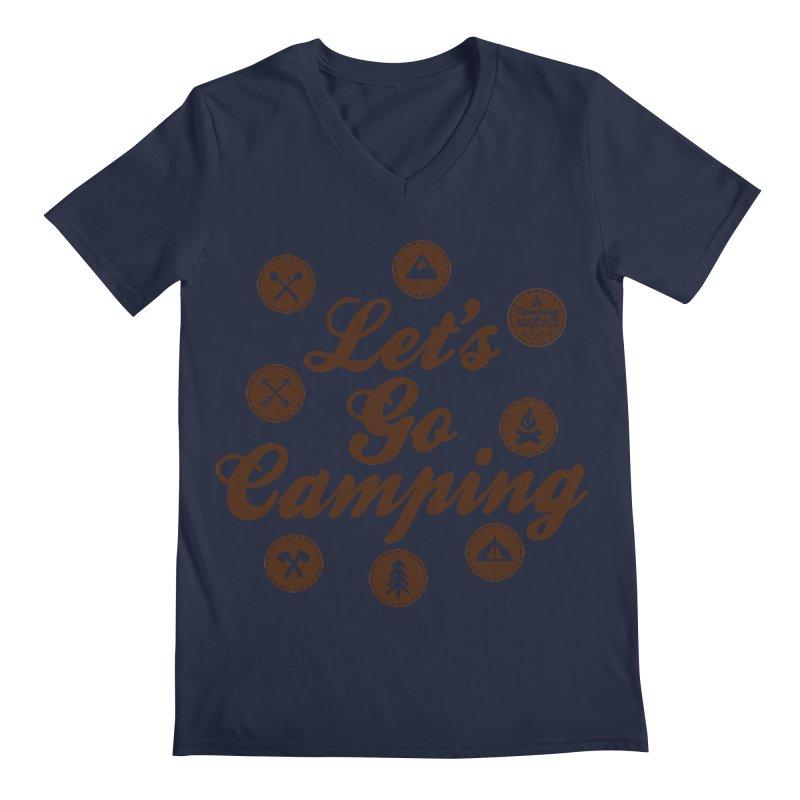 Camping Maniacs 4 Men's Regular V-Neck by Casa Norte's Artist Shop