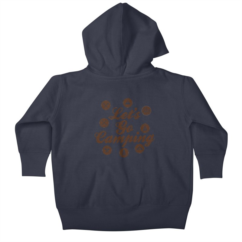 Camping Maniacs 4 Kids Baby Zip-Up Hoody by Casa Norte's Artist Shop