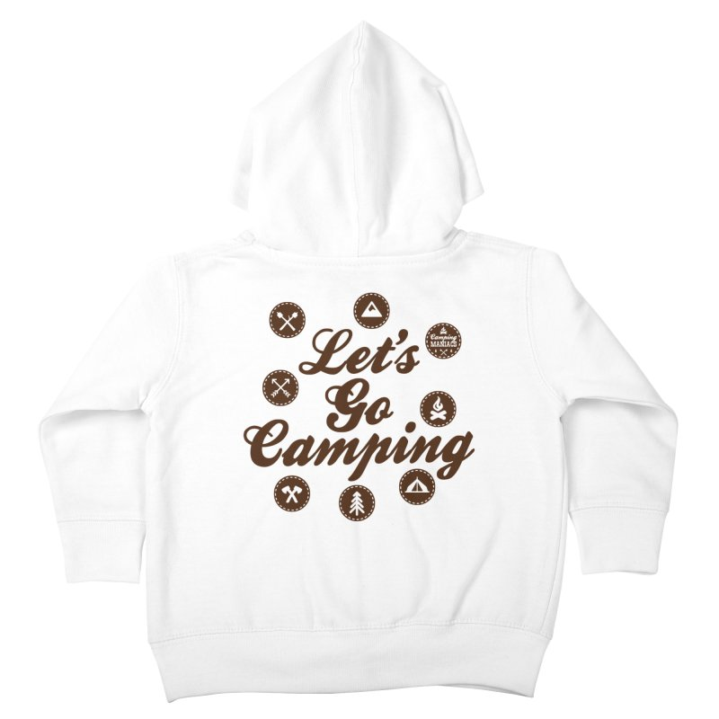 Camping Maniacs 4 Kids Toddler Zip-Up Hoody by Casa Norte's Artist Shop
