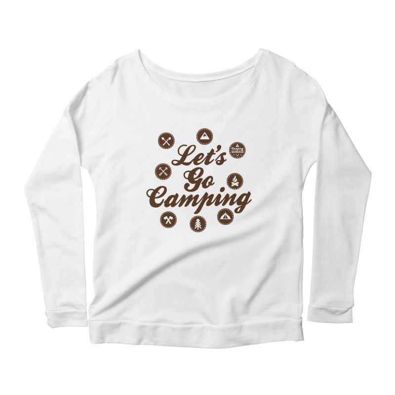 Camping Maniacs 4 Women's Scoop Neck Longsleeve T-Shirt by Casa Norte's Artist Shop