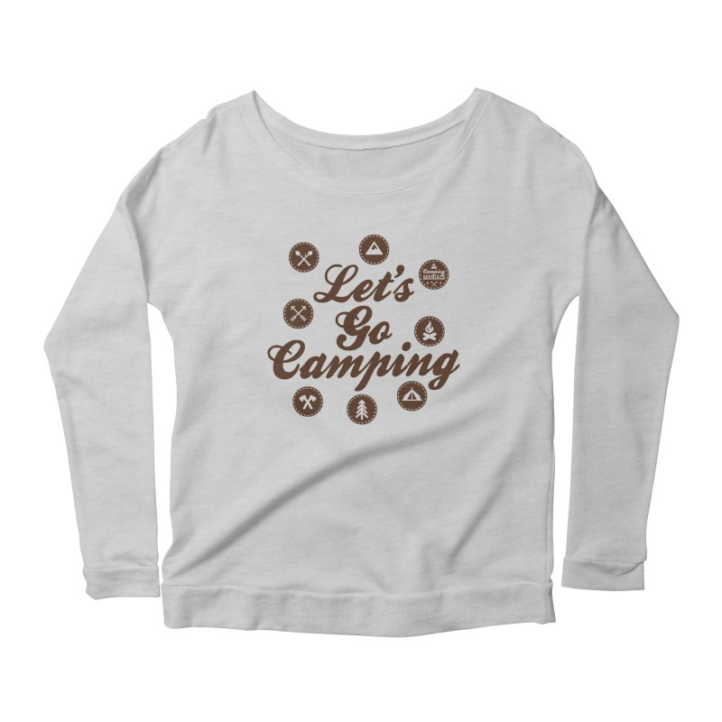 Camping Maniacs 4 Women's Scoop Neck Longsleeve T-Shirt by CasaNorte's Artist Shop