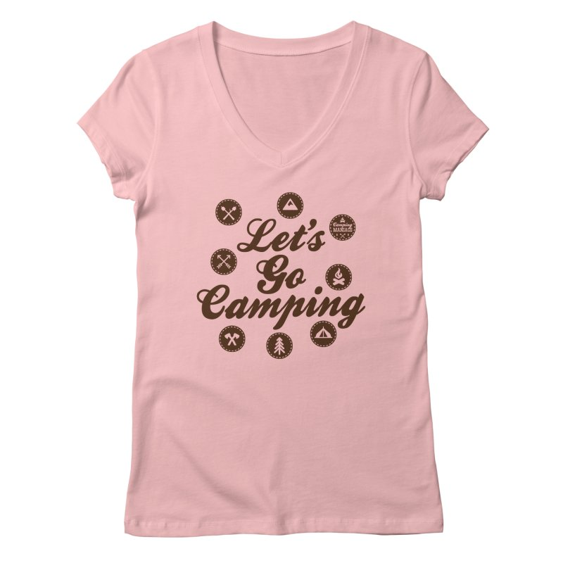 Camping Maniacs 4 Women's Regular V-Neck by Casa Norte's Artist Shop