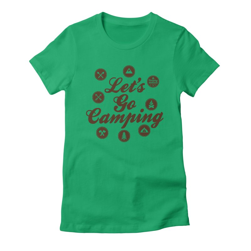Camping Maniacs 4 Women's Fitted T-Shirt by Casa Norte's Artist Shop