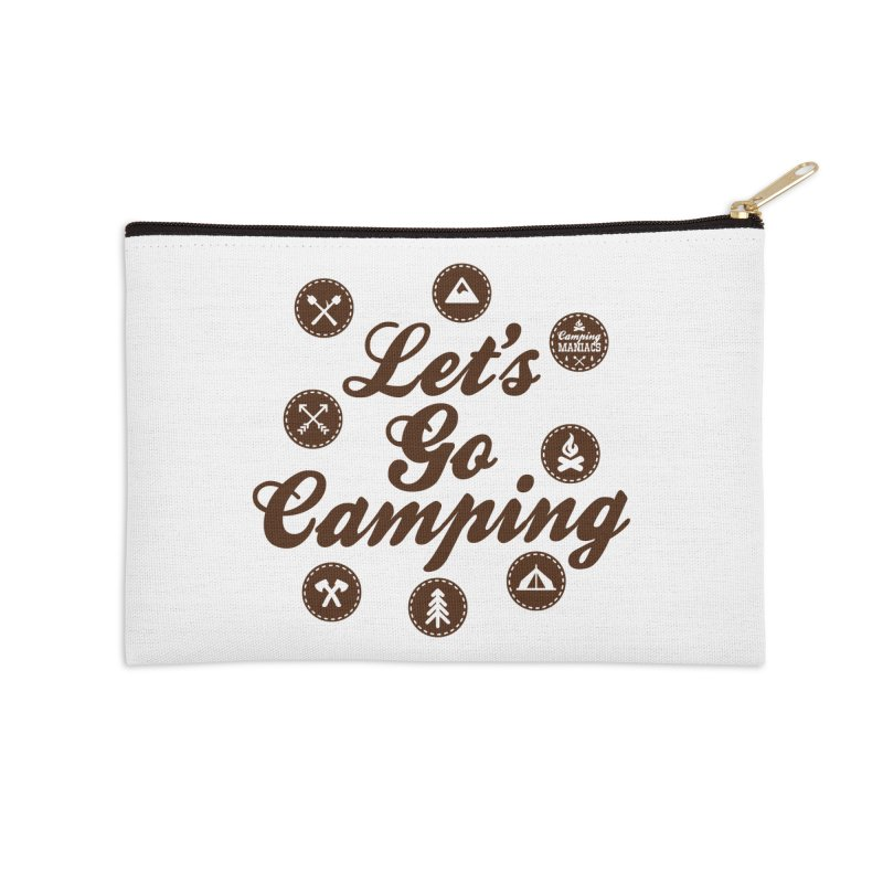 Camping Maniacs 4 Accessories Zip Pouch by Casa Norte's Artist Shop