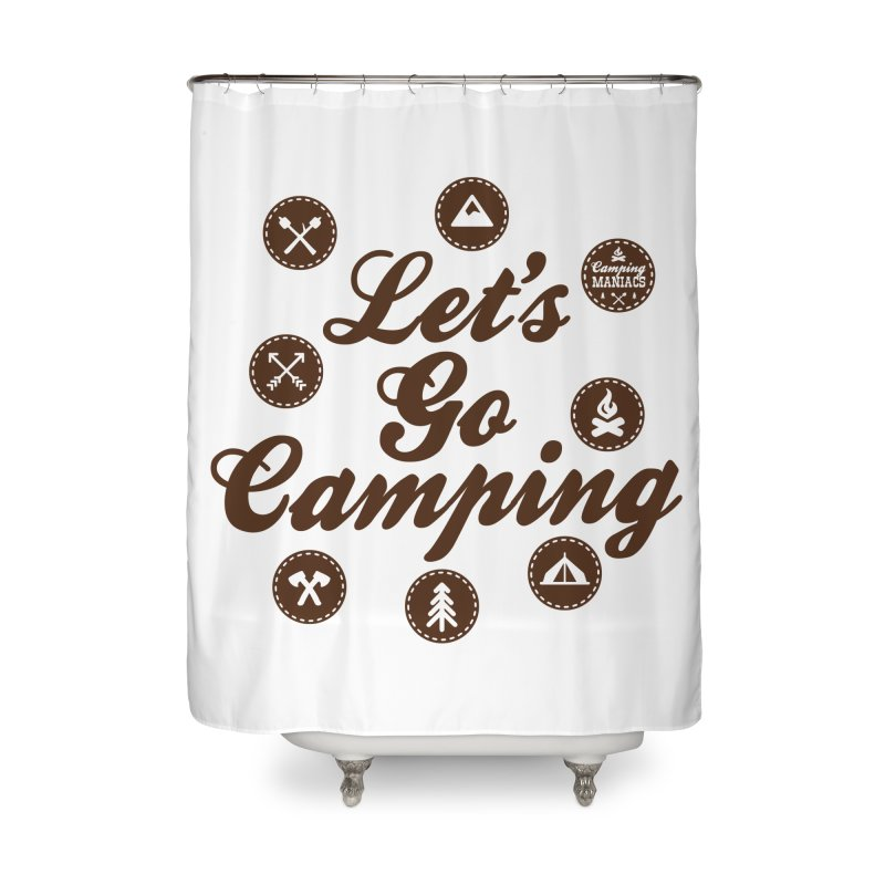 Camping Maniacs 4 Home Shower Curtain by CasaNorte's Artist Shop