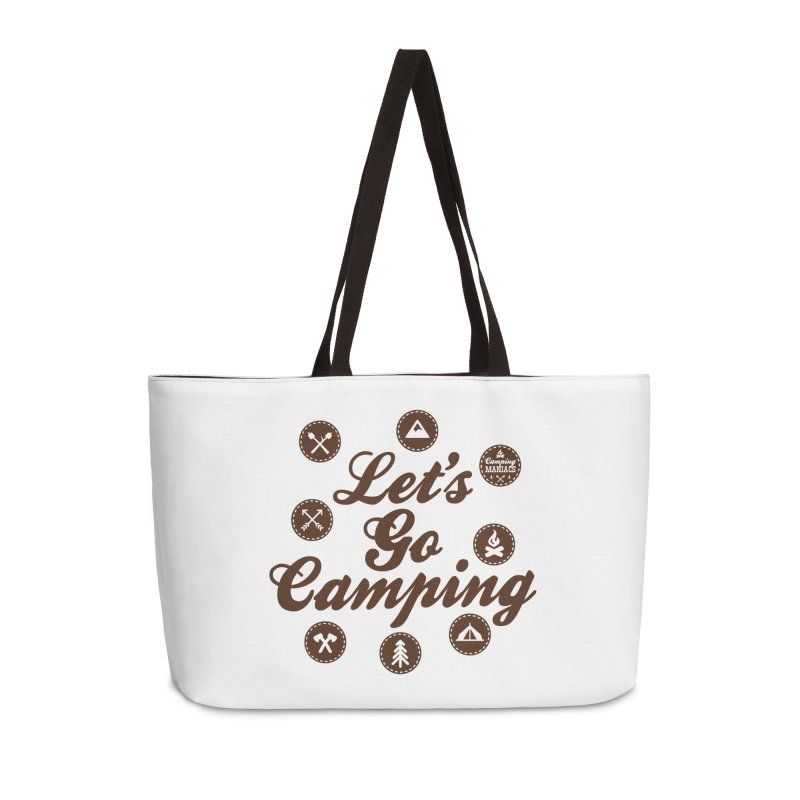 Camping Maniacs 4 Accessories Weekender Bag Bag by Casa Norte's Artist Shop
