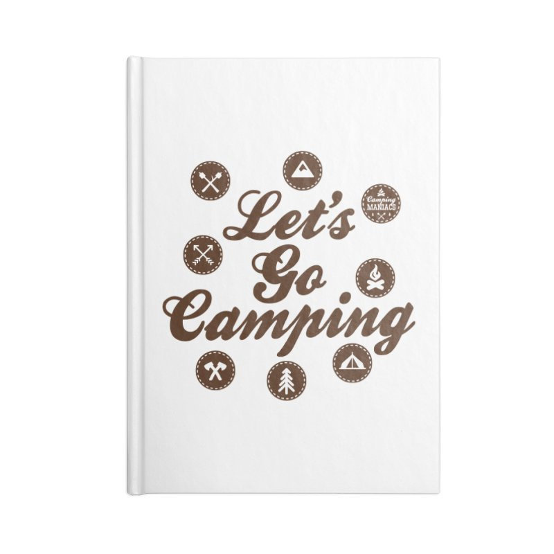 Camping Maniacs 4 Accessories Blank Journal Notebook by Casa Norte's Artist Shop