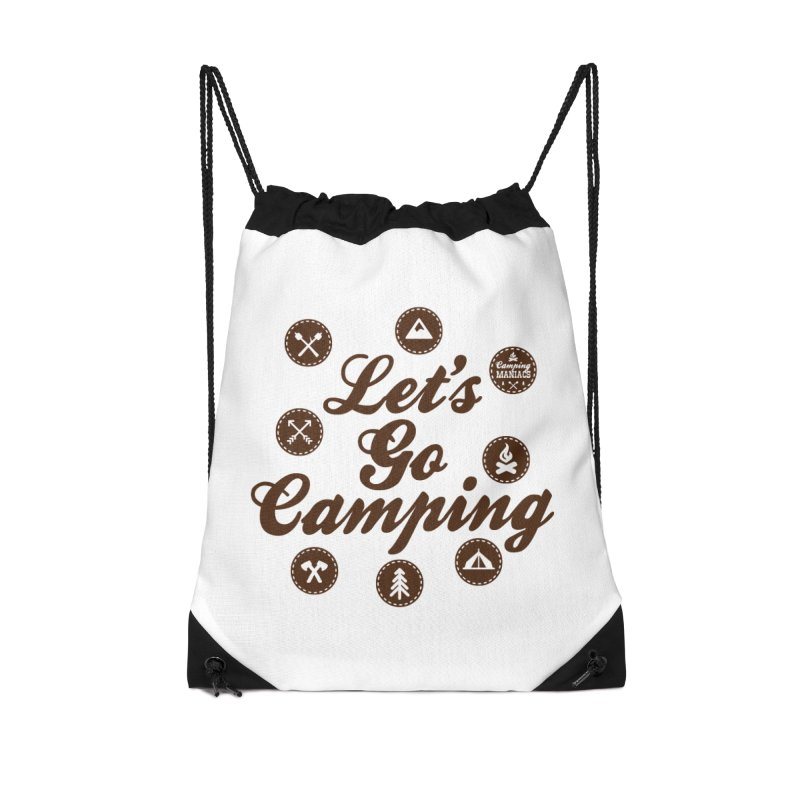 Camping Maniacs 4 Accessories Drawstring Bag Bag by Casa Norte's Artist Shop