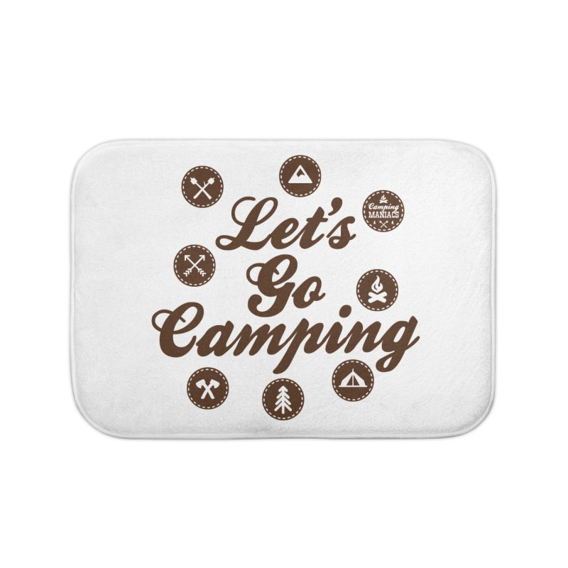 Camping Maniacs 4 Home Bath Mat by CasaNorte's Artist Shop