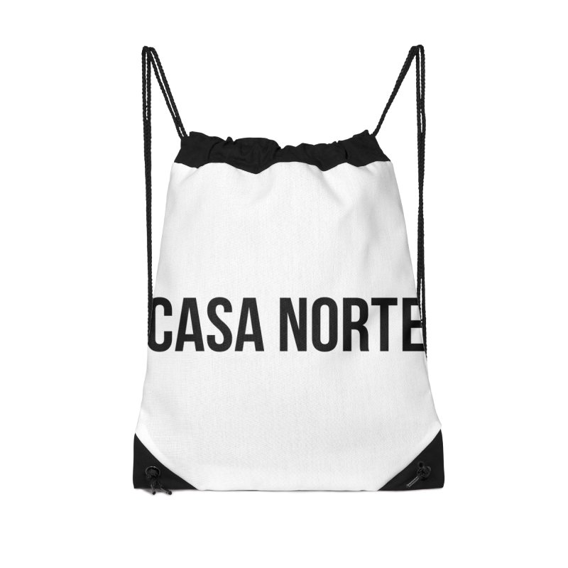 CasaNorte - CasaPlain Accessories Drawstring Bag Bag by Casa Norte's Artist Shop
