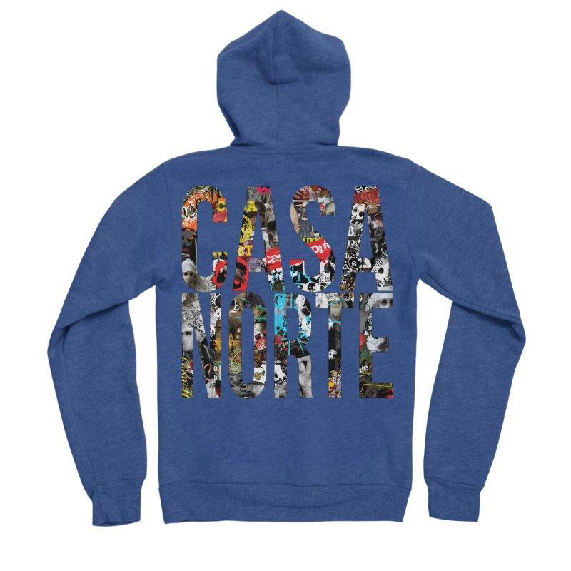CasaNorte - CNWorldLetters Men's Sponge Fleece Zip-Up Hoody by Casa Norte's Artist Shop