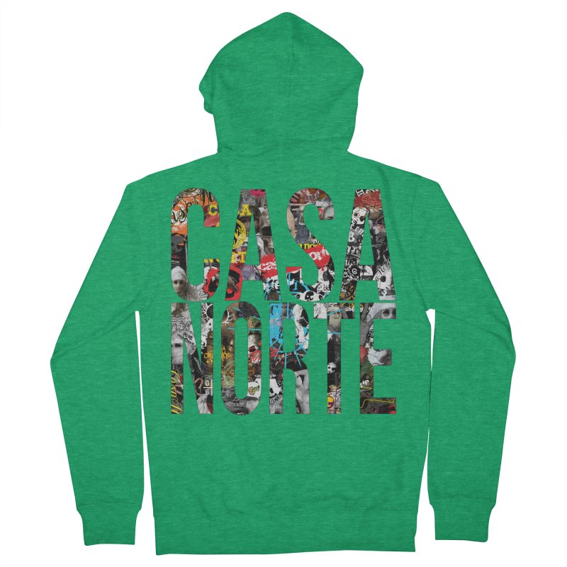 CasaNorte - CNWorldLetters Men's Zip-Up Hoody by Casa Norte's Artist Shop