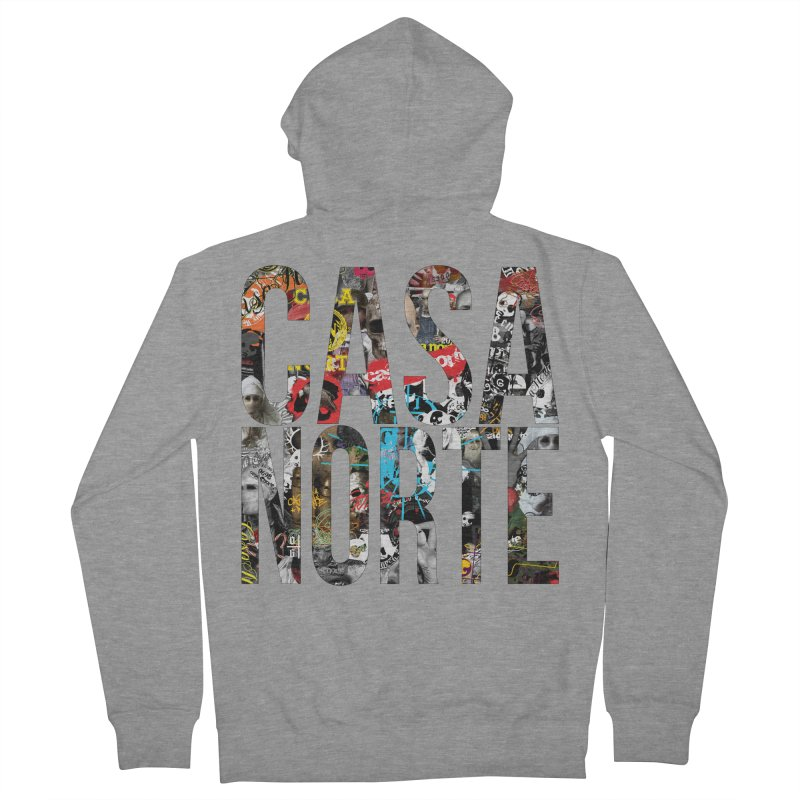 CasaNorte - CNWorldLetters Men's French Terry Zip-Up Hoody by Casa Norte's Artist Shop