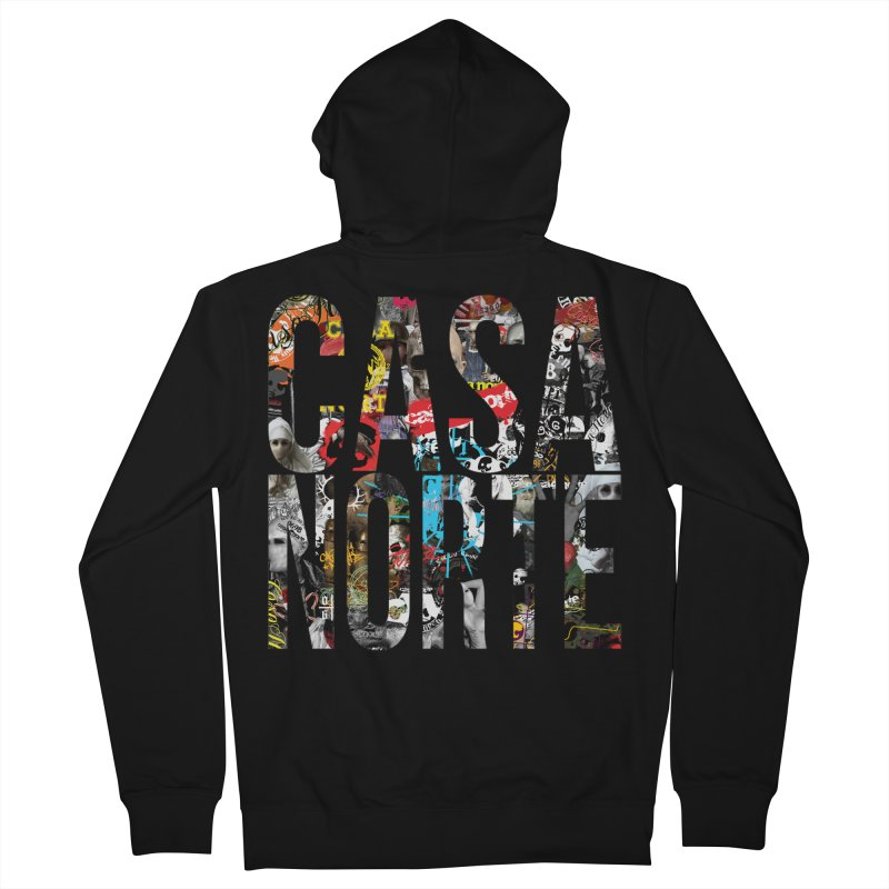CasaNorte - CNWorldLetters Men's French Terry Zip-Up Hoody by Casa Norte's Artist Shop