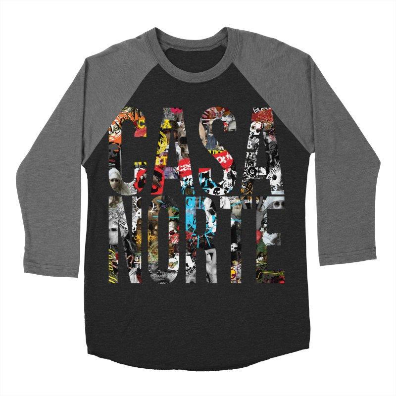 CasaNorte - CNWorldLetters Men's Baseball Triblend Longsleeve T-Shirt by Casa Norte's Artist Shop