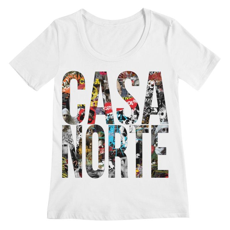 CasaNorte - CNWorldLetters Women's Regular Scoop Neck by Casa Norte's Artist Shop