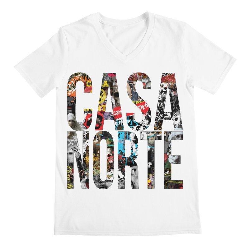 CasaNorte - CNWorldLetters Men's Regular V-Neck by Casa Norte's Artist Shop