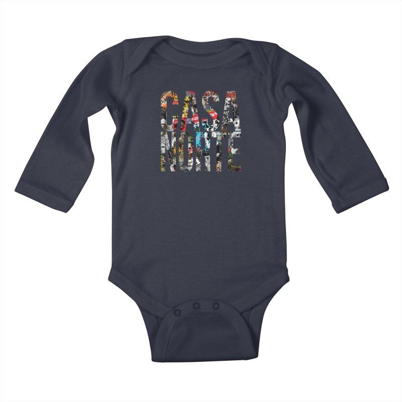 CasaNorte - CNWorldLetters Kids Baby Longsleeve Bodysuit by Casa Norte's Artist Shop