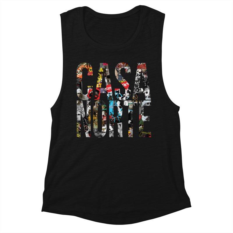 CasaNorte - CNWorldLetters Women's Muscle Tank by Casa Norte's Artist Shop