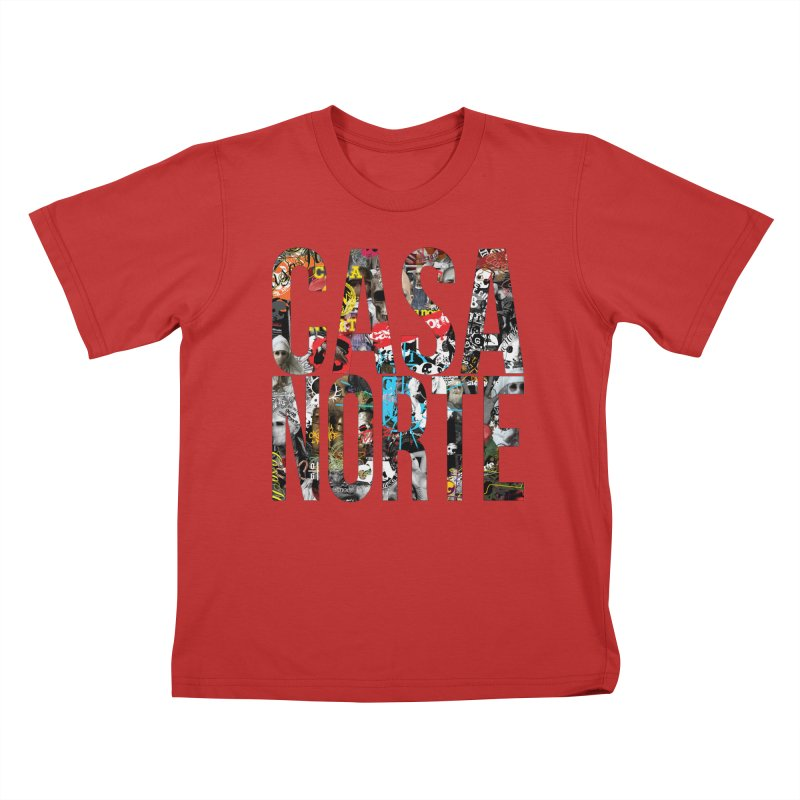 CasaNorte - CNWorldLetters Kids T-Shirt by Casa Norte's Artist Shop