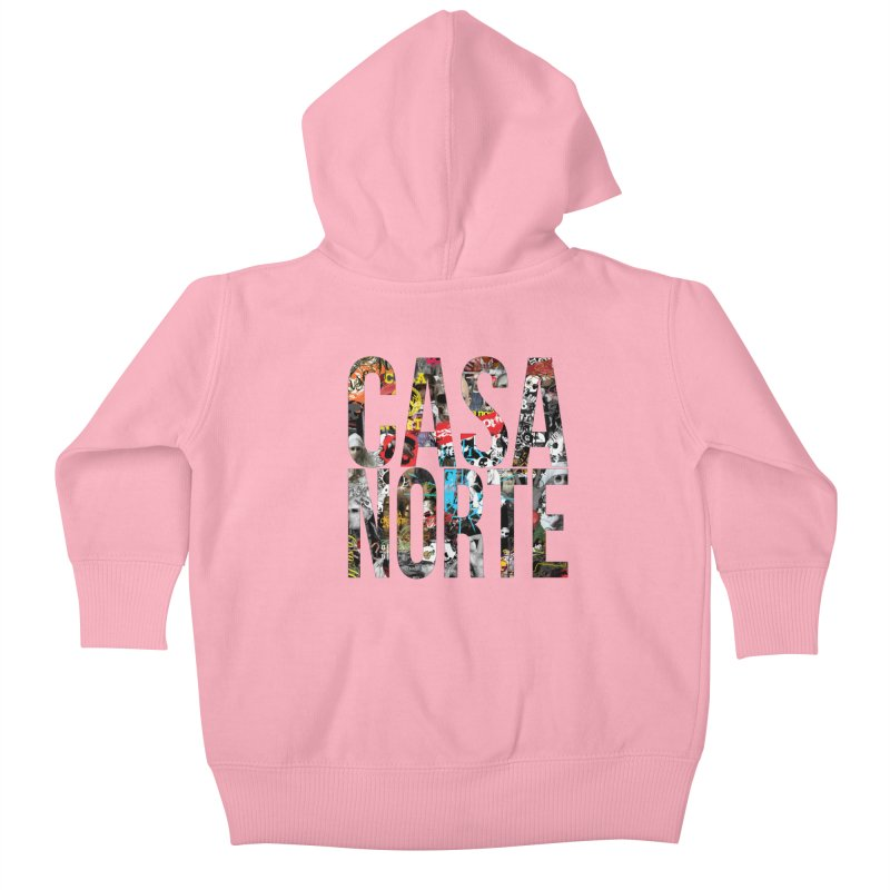 CasaNorte - CNWorldLetters Kids Baby Zip-Up Hoody by Casa Norte's Artist Shop